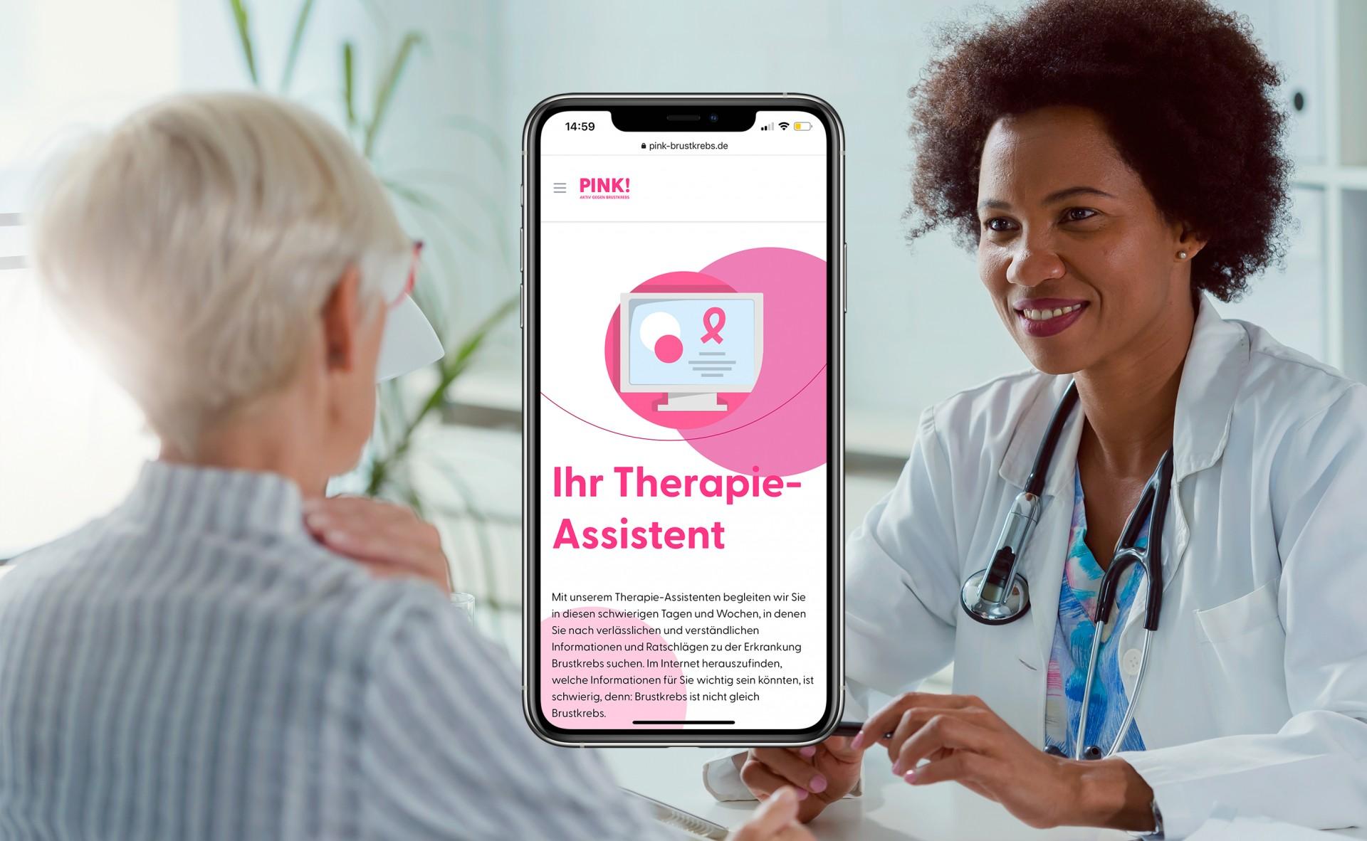 Pink brustkrebs therapieassistent iphone